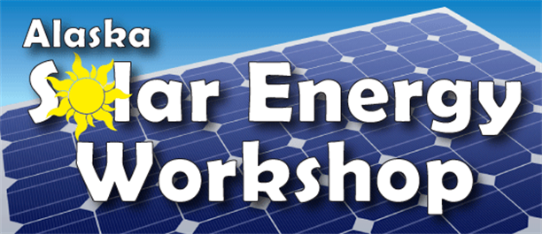 Solar Power Workshop Banner Logo Logo And Solar Panel V1