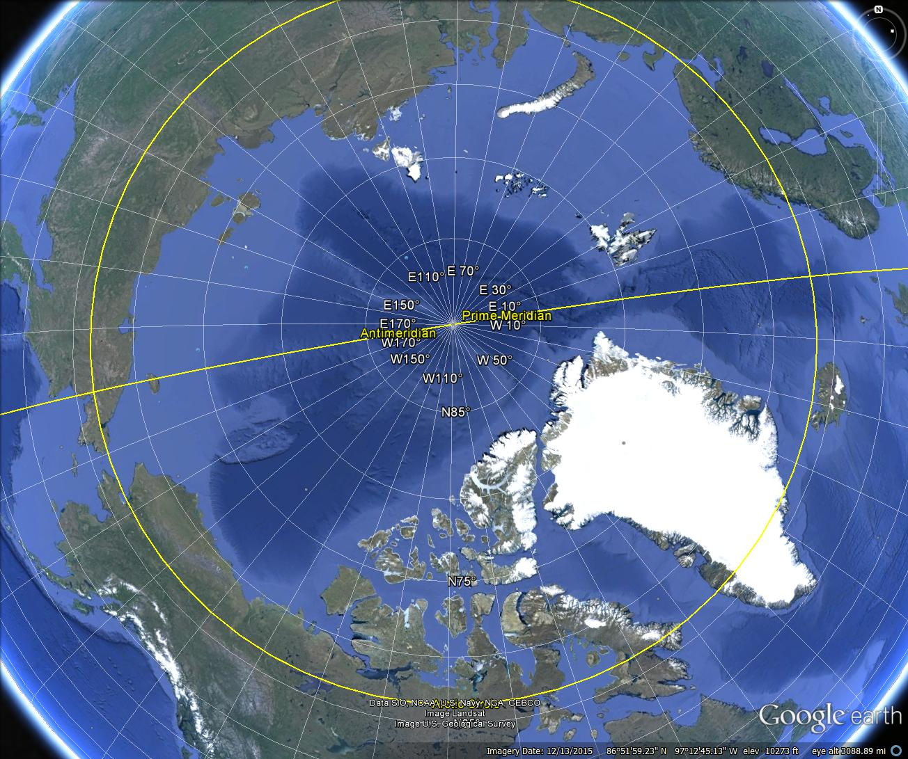 Google Earth Arctic Long Lat 1