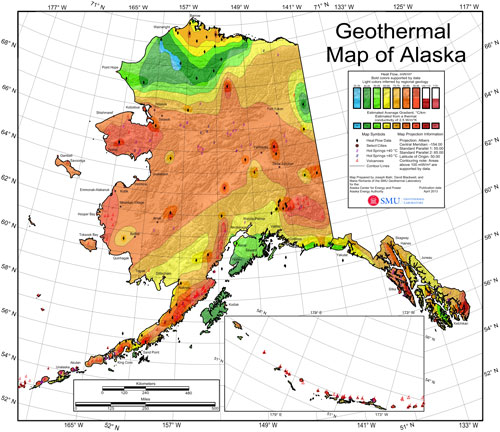 2013 Geothermal Map of Alaska Update. Map prepared by J Batir, D ...